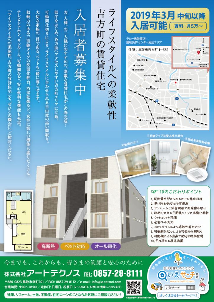 ライフスタイルへの柔軟性 吉方町の賃貸住宅